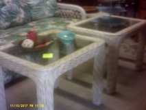 Rattan & Glass tables in San Diego, California