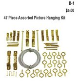 47 Piece Assorted Picture Hanging Kit(B1) in Barstow, California