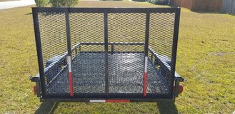 5x8 Mesh Heavy Duty Utility Trailer With Ramp in Hinesville, Georgia