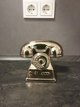 old telephone gold decoration in Ramstein, Germany