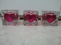 pink heart tea light holders in Ramstein, Germany