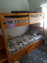 Twin bunk bed with drawers and stairs in Fairfield, California