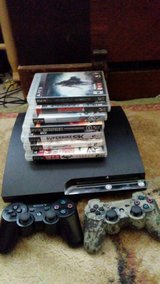PS 3, 8 games, 2 remotes, and all cables in Fort Leonard Wood, Missouri