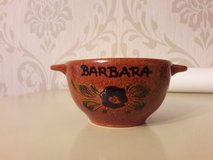 Hand painted bowl Barbara in Ramstein, Germany