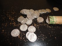 mercury dime  4 rolls  circulated  $20 face  200 coins silver in Fort Campbell, Kentucky