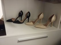 black and beige lacquered high heels in Ramstein, Germany
