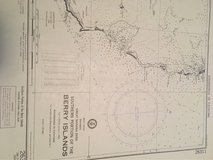 Antique nautical Chart in Beaufort, South Carolina
