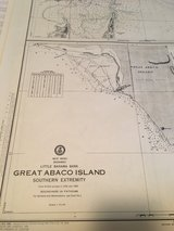 antique nautical chart's in Beaufort, South Carolina