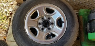 2 chevy rims and tires in Camp Lejeune, North Carolina