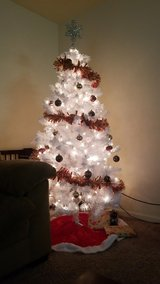 New Christmas tree with new ornaments and lights. in Fort Leonard Wood, Missouri