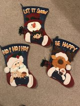 3 Christmas stockings in Spring, Texas