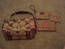 Coach Signature Khaki/Berry Set in Warner Robins, Georgia