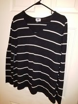 Ladies black and white striped sweater in Spring, Texas