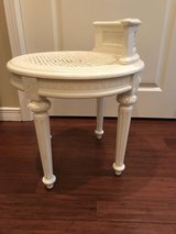 Antique white stool in Fort Bliss, Texas