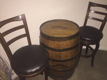 two high chair bar stools with JD Barrell in Las Vegas, Nevada