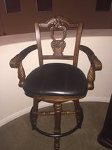 high chair wood bar stool with arms in Nellis AFB, Nevada