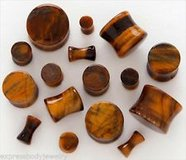 Tigers eye plugs body jewelry in Camp Lejeune, North Carolina