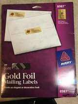 Gold mailing labels in Warner Robins, Georgia