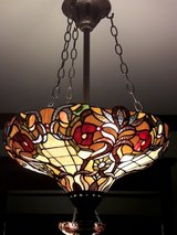 Stained glass light fixture. in Tinley Park, Illinois