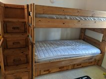 Solid wood twin bunk bed with drawers in Camp Pendleton, California