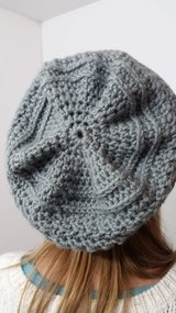 Crochet slouchy hat in Fort Drum, New York
