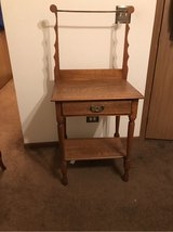 antique wash stand table in Schaumburg, Illinois