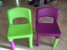 colorful set of 2 plastic chairs for toddlers in Naperville, Illinois