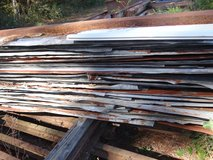Old barn roof TIN metal corrugated sheets rusty re-purpose crafts in Conroe, Texas