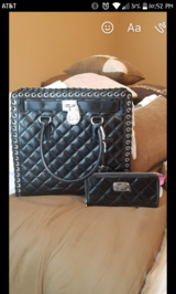 Michael kors black leather purse and wallet in Conroe, Texas