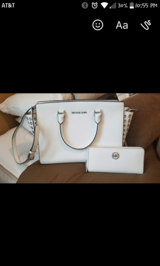 Michael Kors white purse in Conroe, Texas