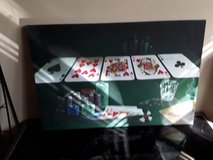 Poker cards framed picture in Palatine, Illinois