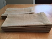"12 - CRATE AND BARREL LINDEN NATURAL COTTON NAPKINS 21"" X 21"" in Schaumburg, Illinois"