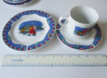 Christmas plates cups and saucers Set of 2, Childrens, Retro in Lakenheath, UK