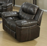 New Brown Leather Swival Rocker Recliner in CyFair, Texas