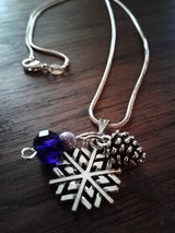 Winter Silver Snowflake Necklace in Beaufort, South Carolina