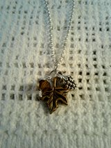 Fall/ Winter Silver Necklace w/Pinecone in Beaufort, South Carolina