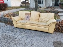 FREE RECLINING LEATHER COUCH in Bartlett, Illinois