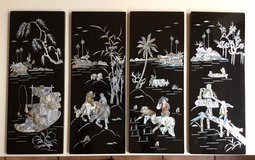 4 Art- Lacquer-boards with mother of pearl inlays - Lacktafeln mit Perlmutt-Einlagen in Ramstein, Germany