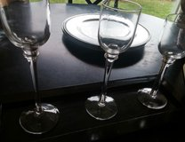 CANDLE HOLDERS W/BROWN TRAY in Oswego, Illinois