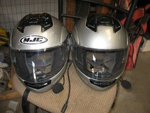 two hjc motorcycle helmets for goldwing with com systems in Alamogordo, New Mexico