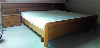 Kingsize Oak Bed With Lighted Headboard and Nightstands in Ramstein, Germany