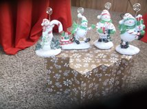 set of four snowman decorations in Alamogordo, New Mexico