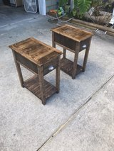 solid wood night stand end table bed side tables with drawers in Camp Lejeune, North Carolina