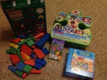 Wood blocks, puzzles and card game in Fairfield, California