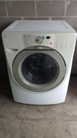 Whirlpool front loader wash machine in Lackland AFB, Texas