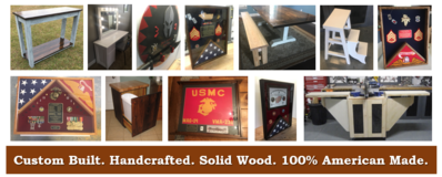 Order custom 100% handcrafted wood items in Camp Lejeune, North Carolina