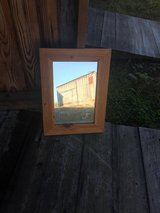Antique mirror, reclaimed wood frame in Greenville, North Carolina