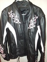 Leather black and pink jacket in Warner Robins, Georgia
