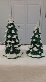 Dept. 56 - Lighted Snow Capped Trees in St. Charles, Illinois