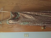 Gold dress from Prom Shop in Joliet, Illinois